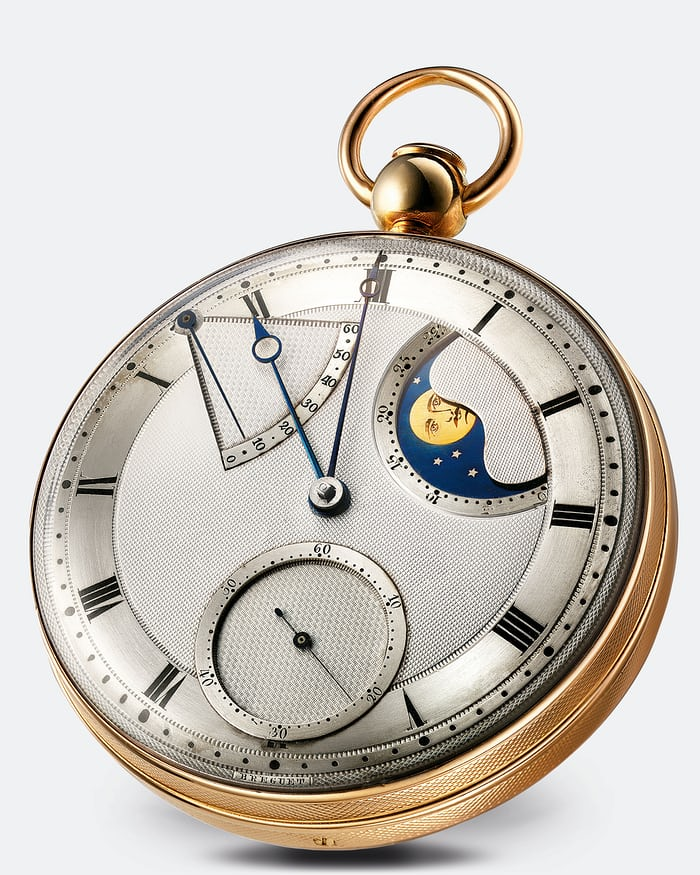 Modern version of the Breguet No. 5 pocket watch.