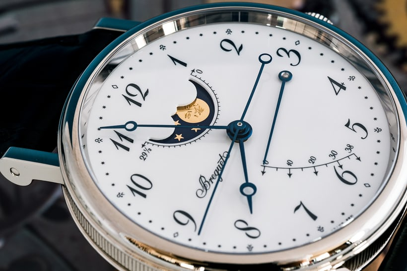 Breguet Classique 7787 moonphase man in the moon