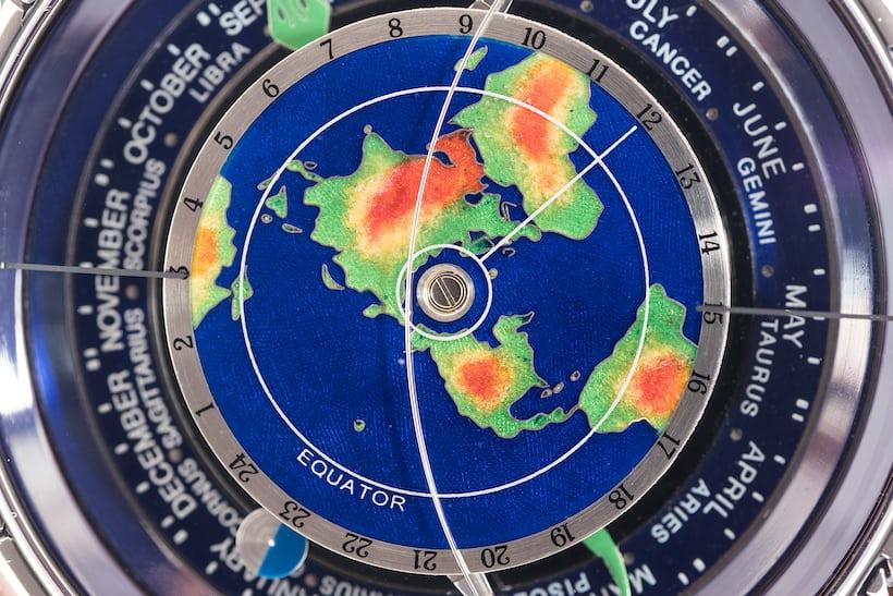 Ulysse Nardin Tellurium Johannes Kepler Trilogy Of Time dial closeup