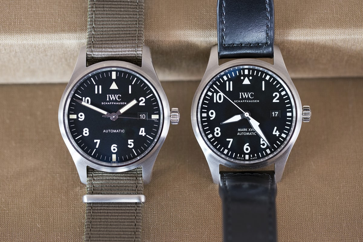 iwc pilot's watch tribute to mark xi mark xviii