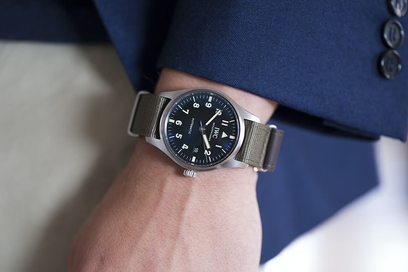 iwc pilot's watch tribute to mark xi wristshot