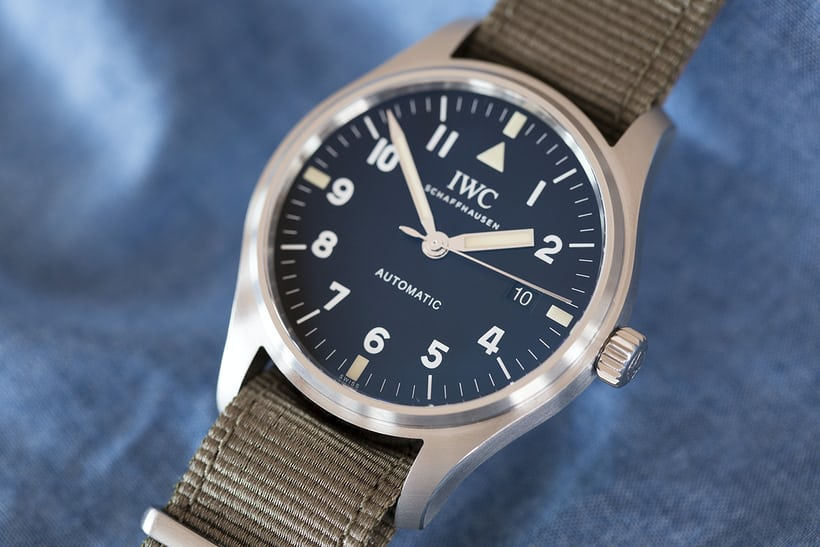 iwc pilot's watch tribute to mark xi dial