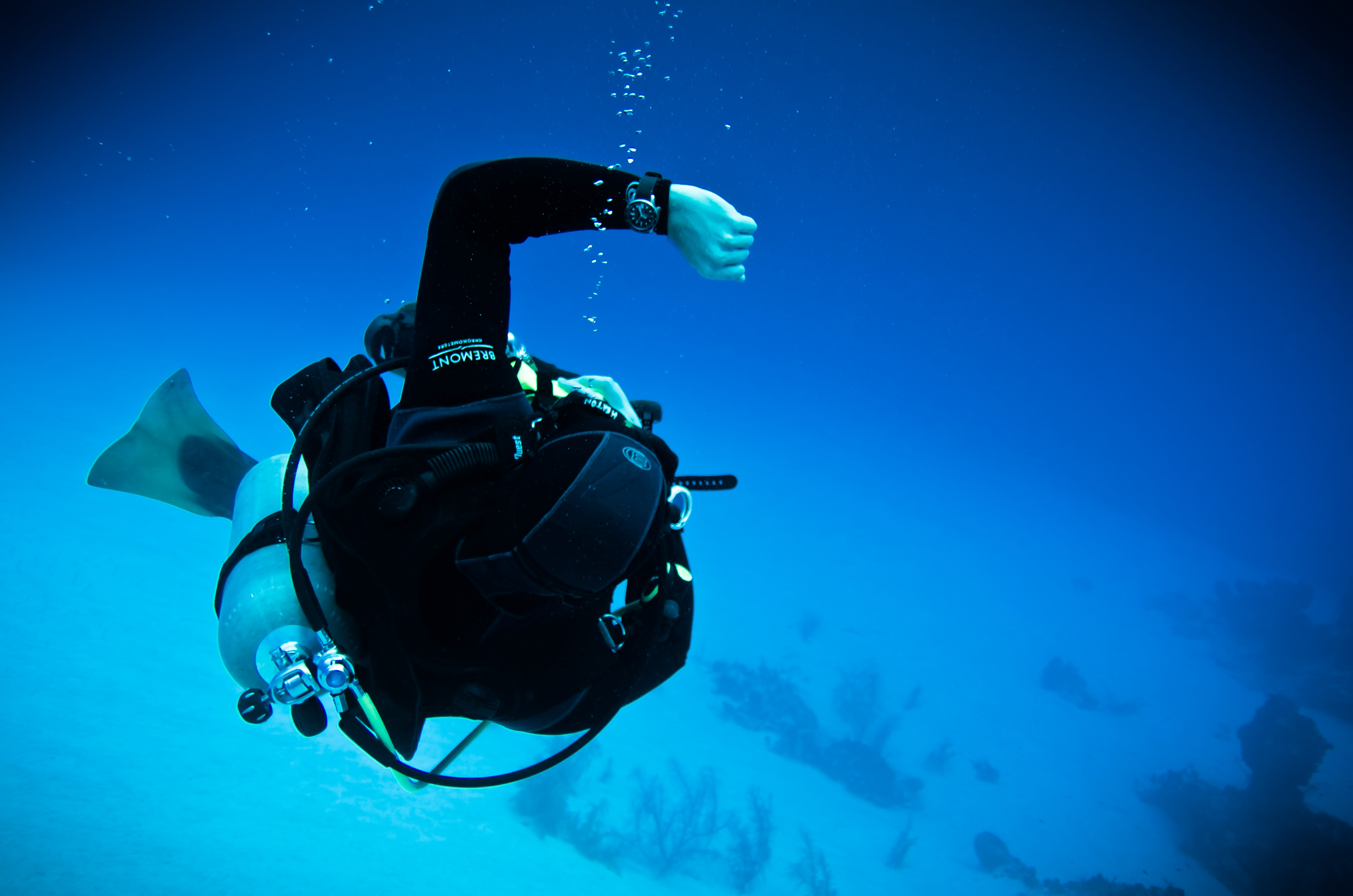 In-Depth: Seven Dive Watch Myths Deep-Sixed arm flailing