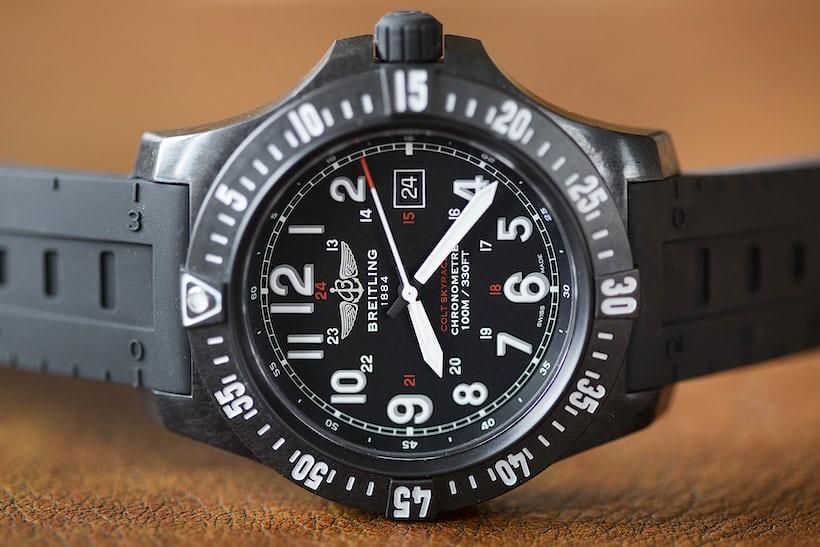 Breitling Colt Skyracer military time