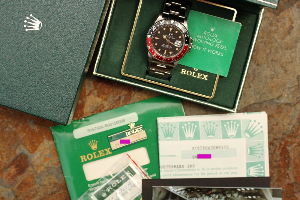 Rolex GMT-Master II  Bring a Loupe: A Full Set Rolex GMT-Master II Ref. 16760, An IWC Ingenieur Ref. 866, A Square Vacheron Constantin 222, And More Bring a Loupe: A Full Set Rolex GMT-Master II Ref. 16760, An IWC Ingenieur Ref. 866, A Square Vacheron Constantin 222, And More Rolex GMT set