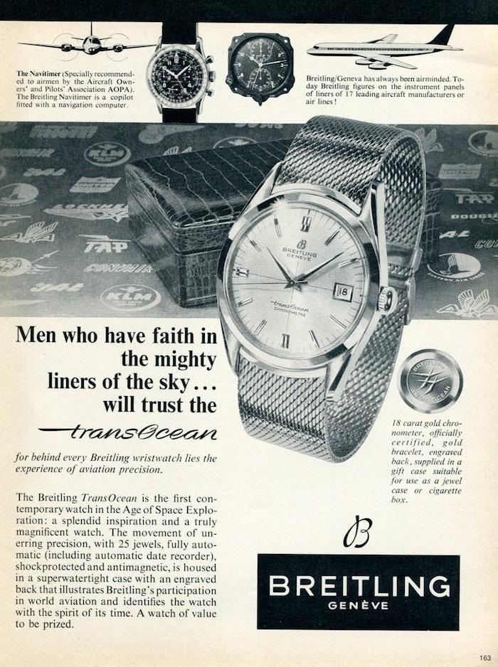 Breitling transocean ads