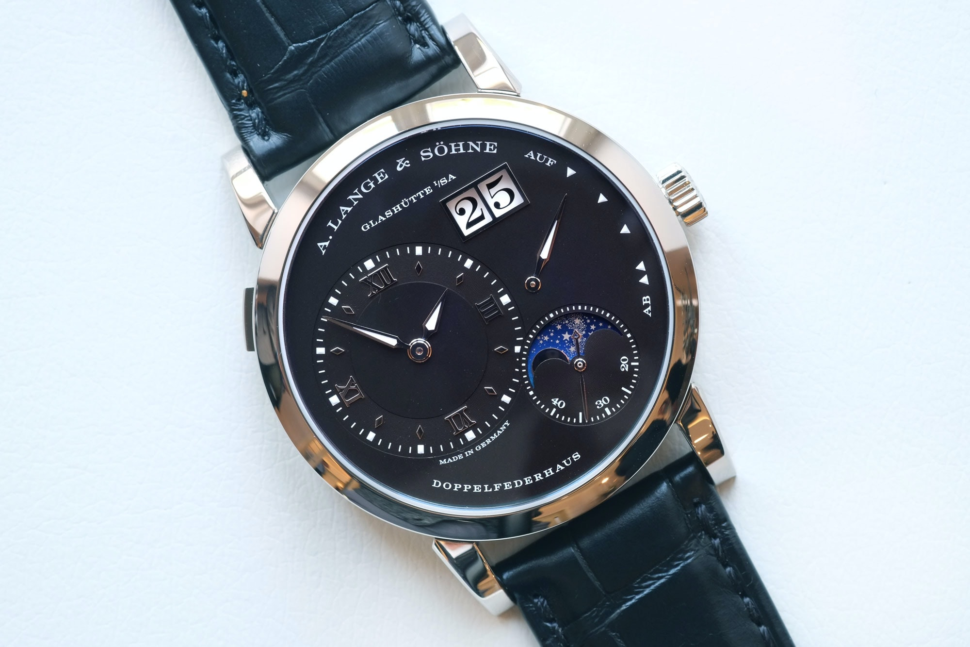 The Lange 1 Moon Phase Editors' Picks: Five Date Displays Done Well Editors' Picks: Five Date Displays Done Well lange moon 03