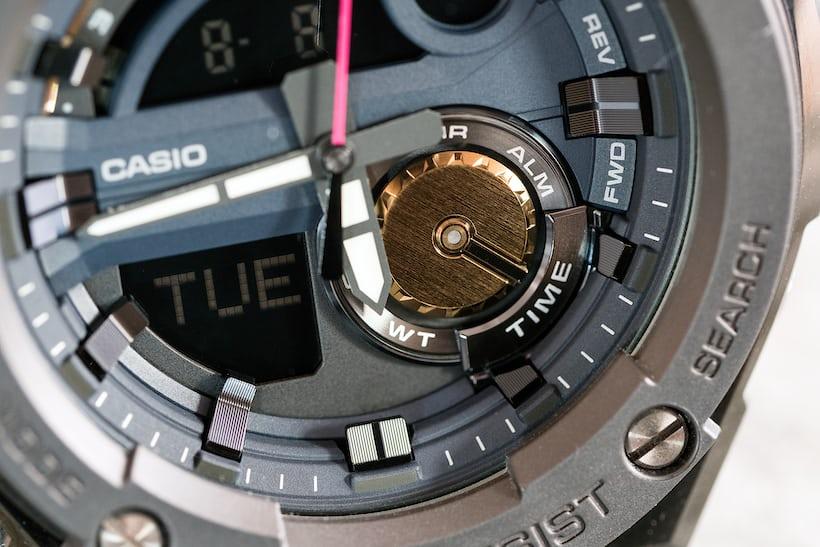 Casio G-Shock G-Steel GST200RBG-1 function indicator