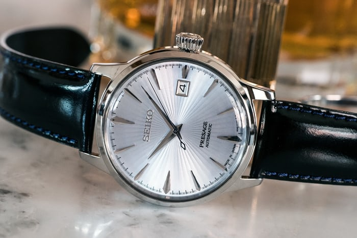 Seiko Presage Cocktail Time SRPB43 lifestyle shot