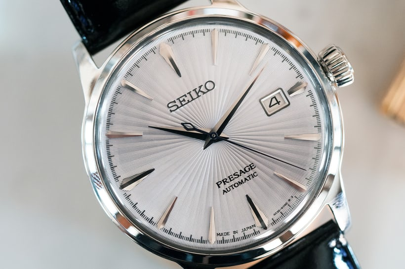 Seiko Presage Cocktail Time SRPB43 dial closeup