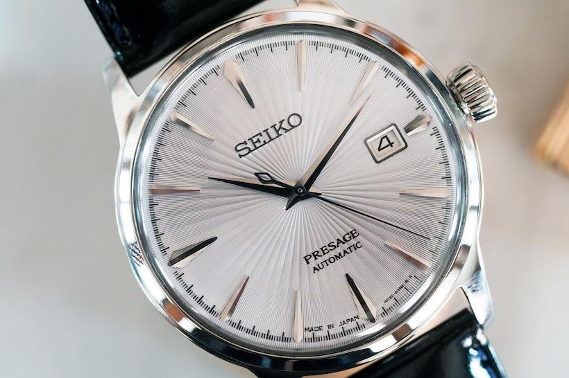 Seiko Presage Cocktail Time SRPB43 dial closeup