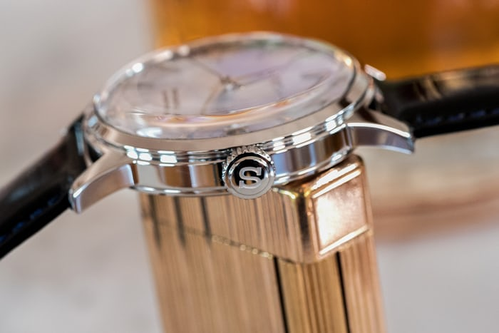 Seiko Presage Cocktail Time SRPB43 side view