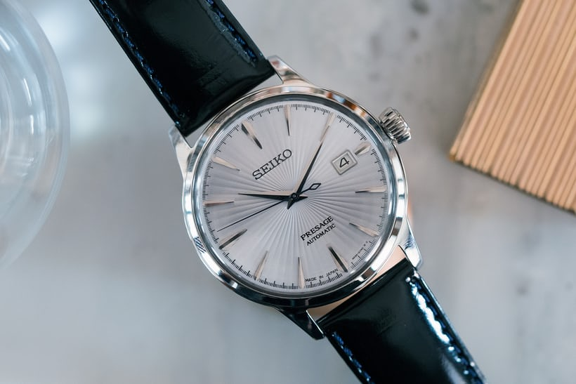 Seiko Presage Cocktail Time SRPB43 overhead shot