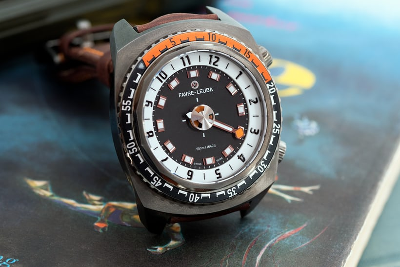 Favre-Leuba Raider Harpoon dial side