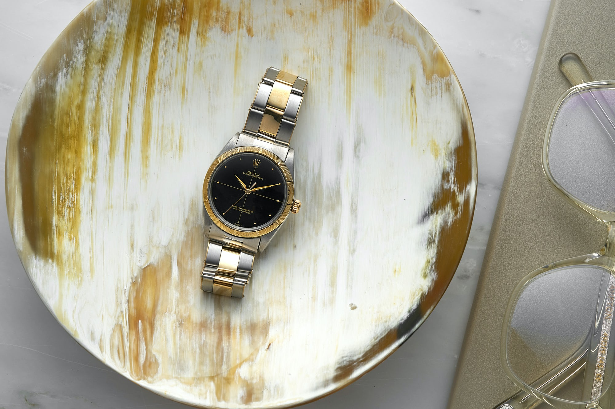 <p>1967 Rolex Two-Tone Zephyr Reference 1008</p>