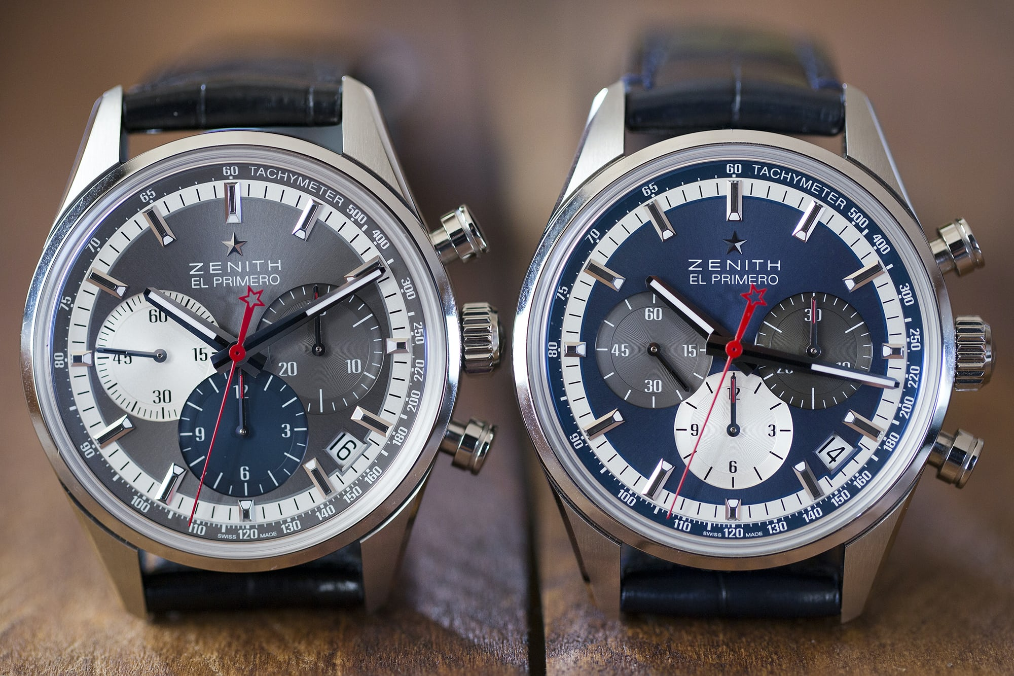 The Zenith El Primero Chronomaster 38mm two dial versions Hands-On: The Zenith El Primero Chronomaster 38mm Hands-On: The Zenith El Primero Chronomaster 38mm B89A0824 copy