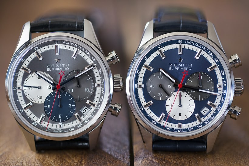 The Zenith El Primero Chronomaster 38mm two dial versions