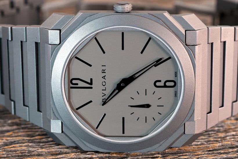 The Bulgari Octo Finissimo Automatique dial