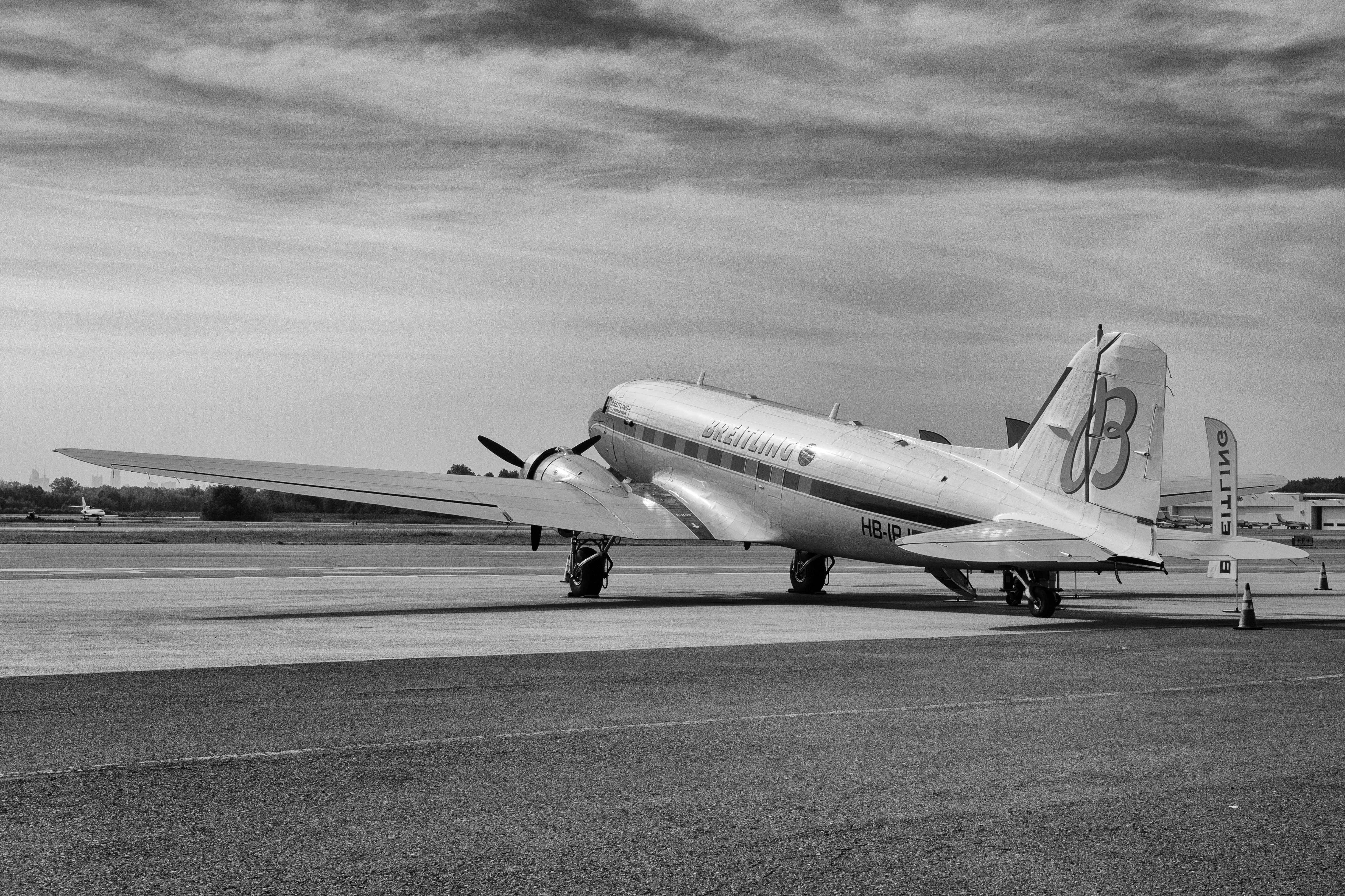 Breitling DC-3 Dispatches: Breitling's DC-3 To Become Oldest Aircraft Ever To Circle The Earth Dispatches: Breitling's DC-3 To Become Oldest Aircraft Ever To Circle The Earth P8212237 bw