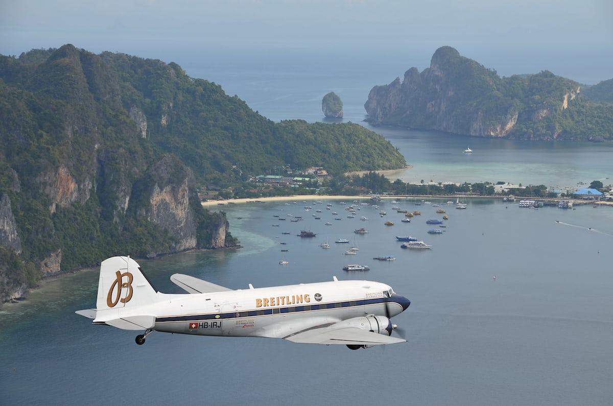 Breitling DC-3 over Phuket, Thailand