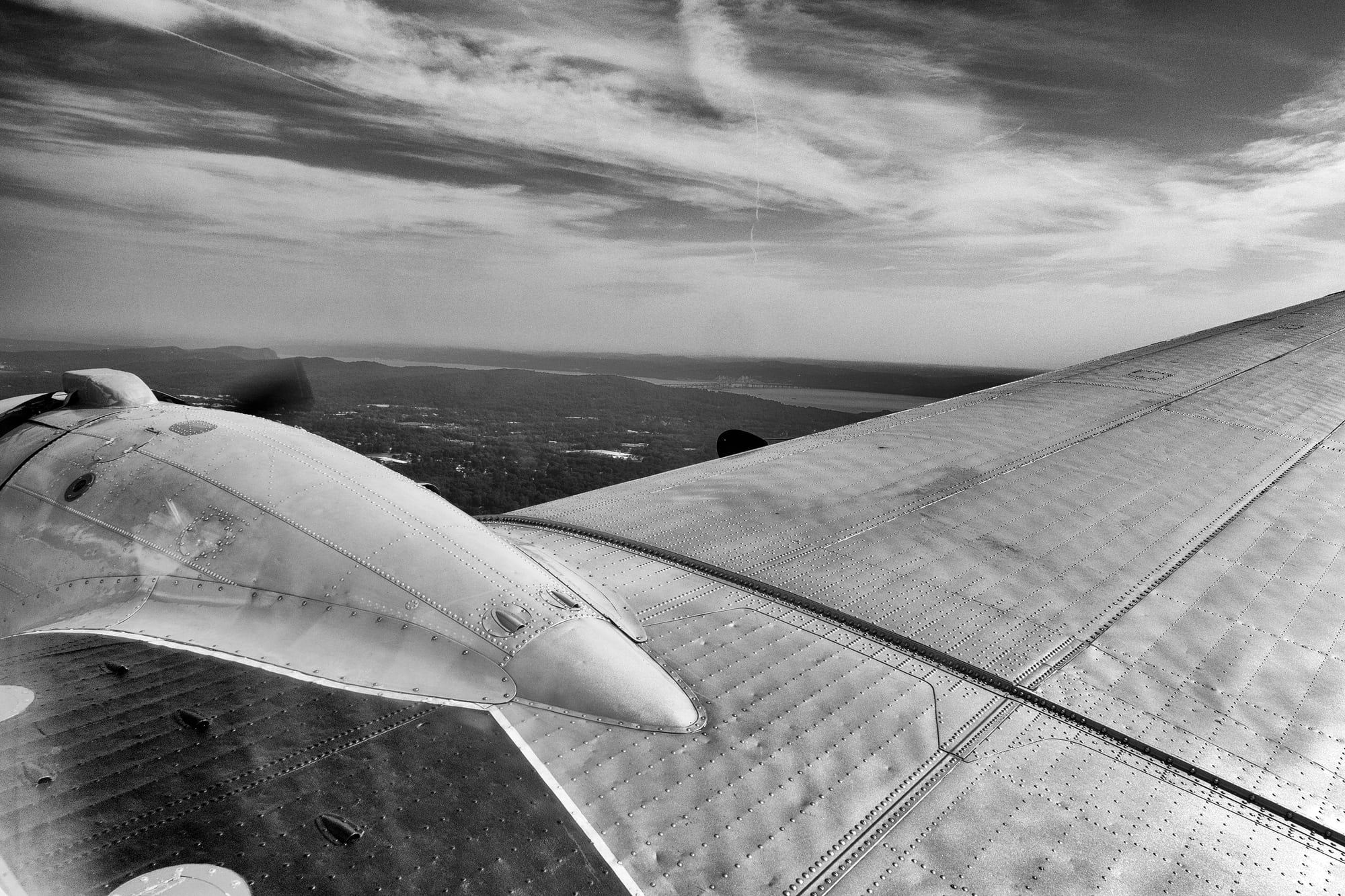 Breitling DC-3 engine cowling  Dispatches: Breitling's DC-3 To Become Oldest Aircraft Ever To Circle The Earth Dispatches: Breitling's DC-3 To Become Oldest Aircraft Ever To Circle The Earth P8212258 bw