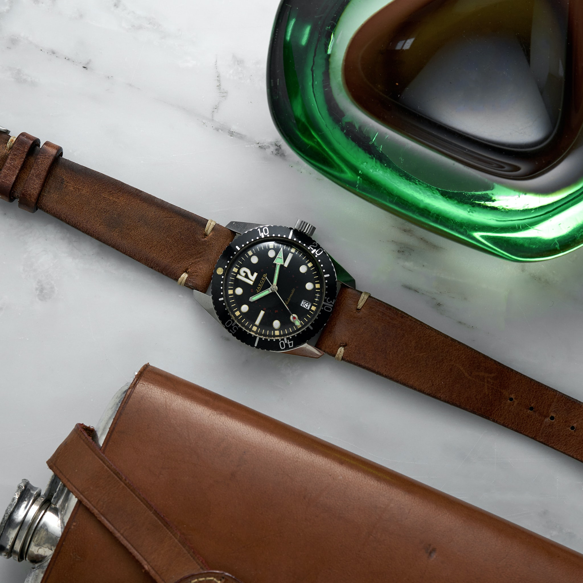In The Shop: A 1989 Tudor Submariner Reference 79090, 1938 Omega 'Flying Saucer' Reference CK2013, And A 1960s Jaeger Diver '20 ATM' 900 JaegerAutomaticDiver Lifestyle