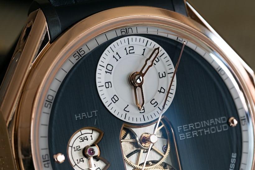 Ferdinand Berthoud Chronomètre FB 1 dial closeup