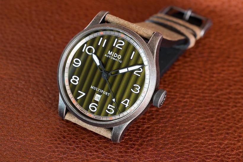 The Mido Multifort Escape green dial