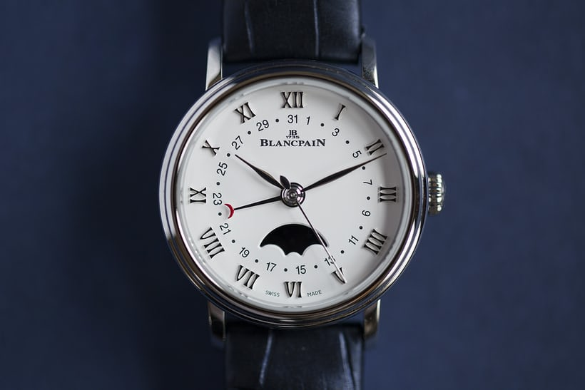 stainless steel villeret moon phase
