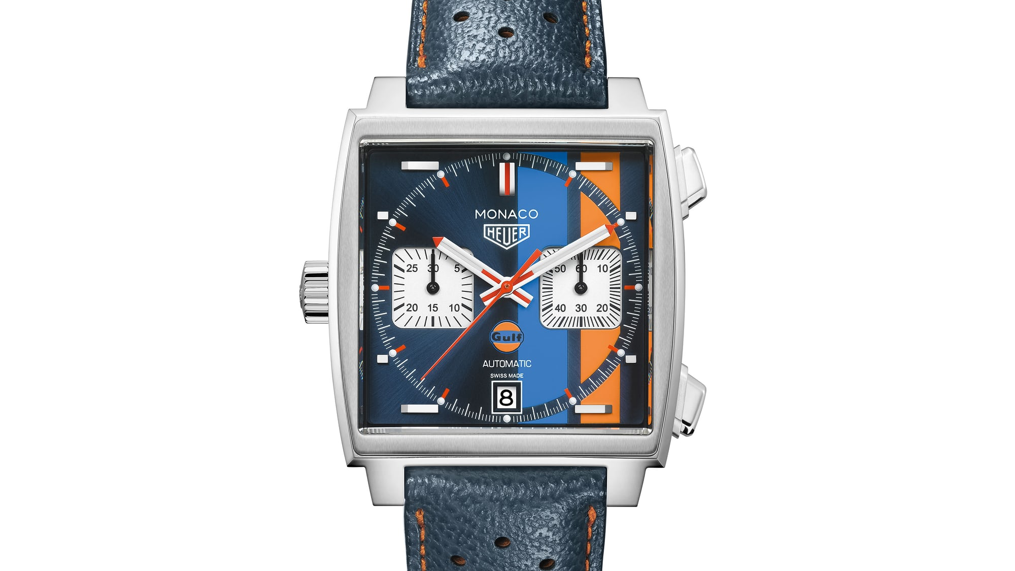 Monaco 1.jpg?ixlib=rails 1.1 Introducing: The TAG Heuer Monaco Gulf Special Edition For 50th Anniversary Of Gulf Oil Stripes Introducing: The TAG Heuer Monaco Gulf Special Edition For 50th Anniversary Of Gulf Oil Stripes monaco 1