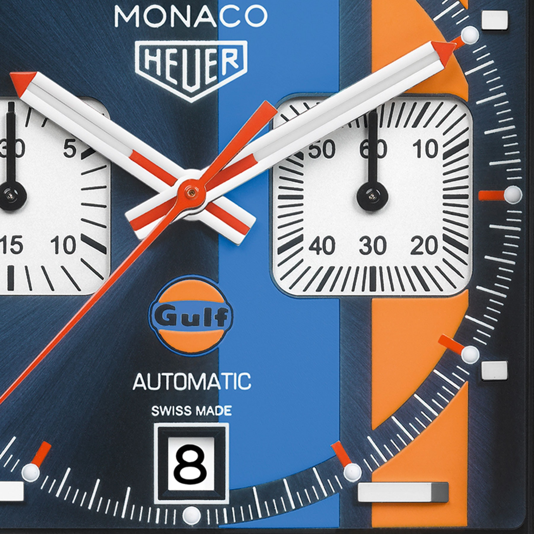 gulf oil limited edition tag heuer   Introducing: The TAG Heuer Monaco Gulf Special Edition For 50th Anniversary Of Gulf Oil Stripes monaco 2