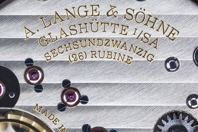 lange hand-finished movement
