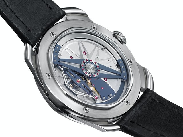 De Bethune DB25 with titanium and platinum balance featuring diagonal crossings (2005)
