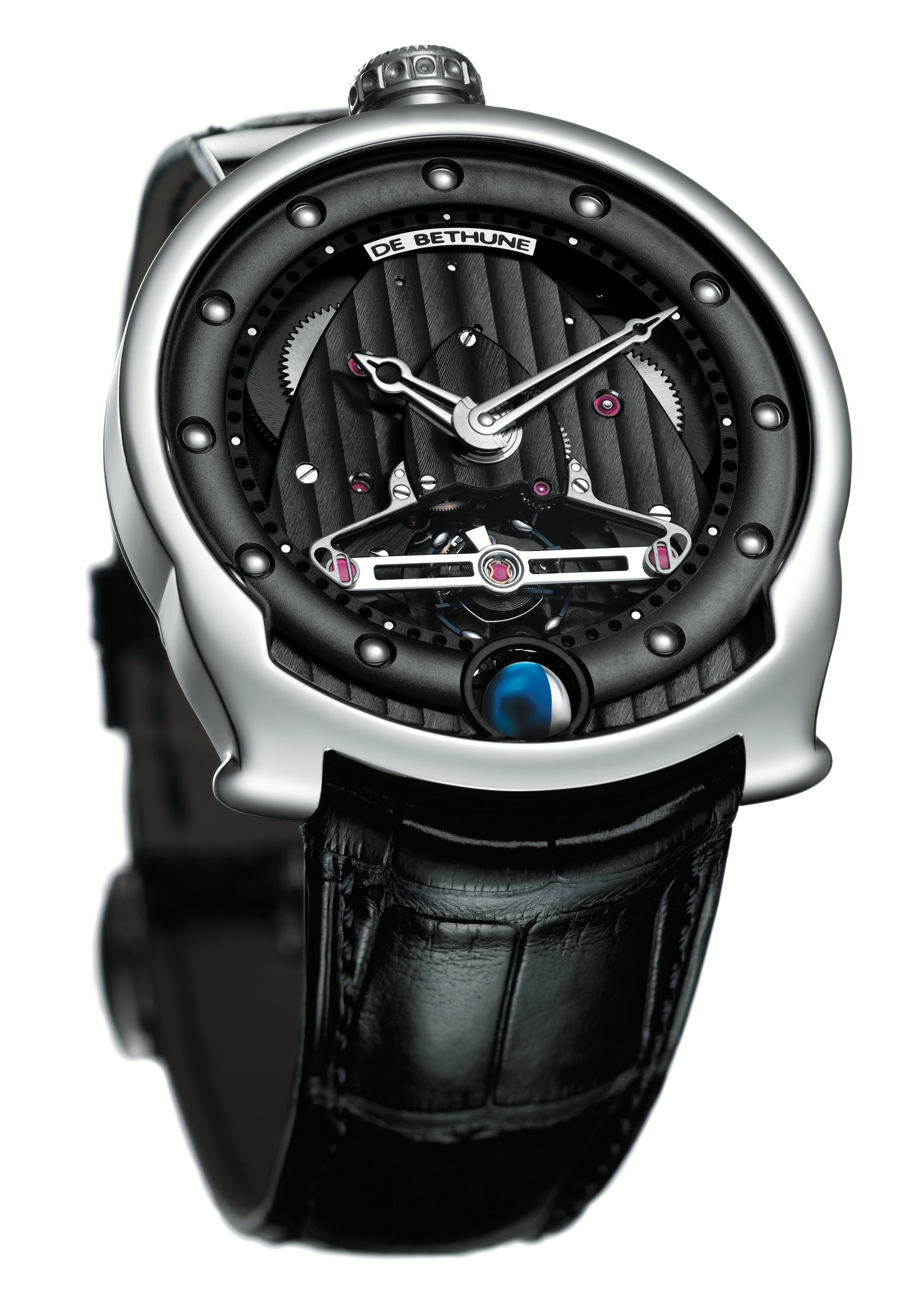 De Bethune DBS with titanium / platinum balance featuring diagonal crossings (2005) Technical Perspective: A Conversation With De Bethune's Denis Flageollet Technical Perspective: A Conversation With De Bethune's Denis Flageollet 2005