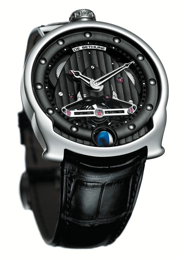 De Bethune DBS with titanium / platinum balance featuring diagonal crossings (2005)