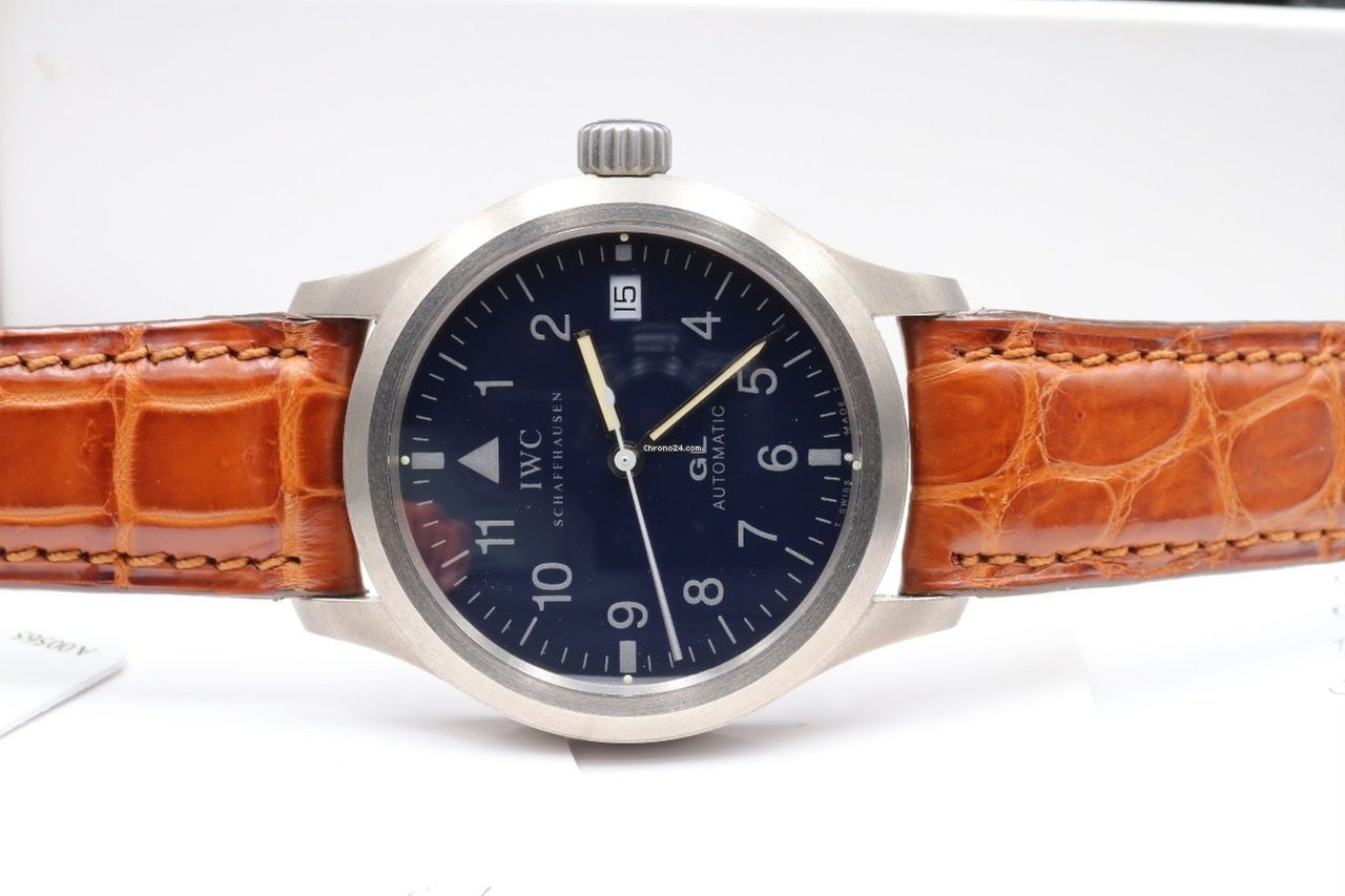 IWC Mark XII Reference 3242  Bring a Loupe: A Titanium Zenith Port Royal, A Military Universal Genve Compax, A Pulsations Doxa Sfygmos, And More IWC front