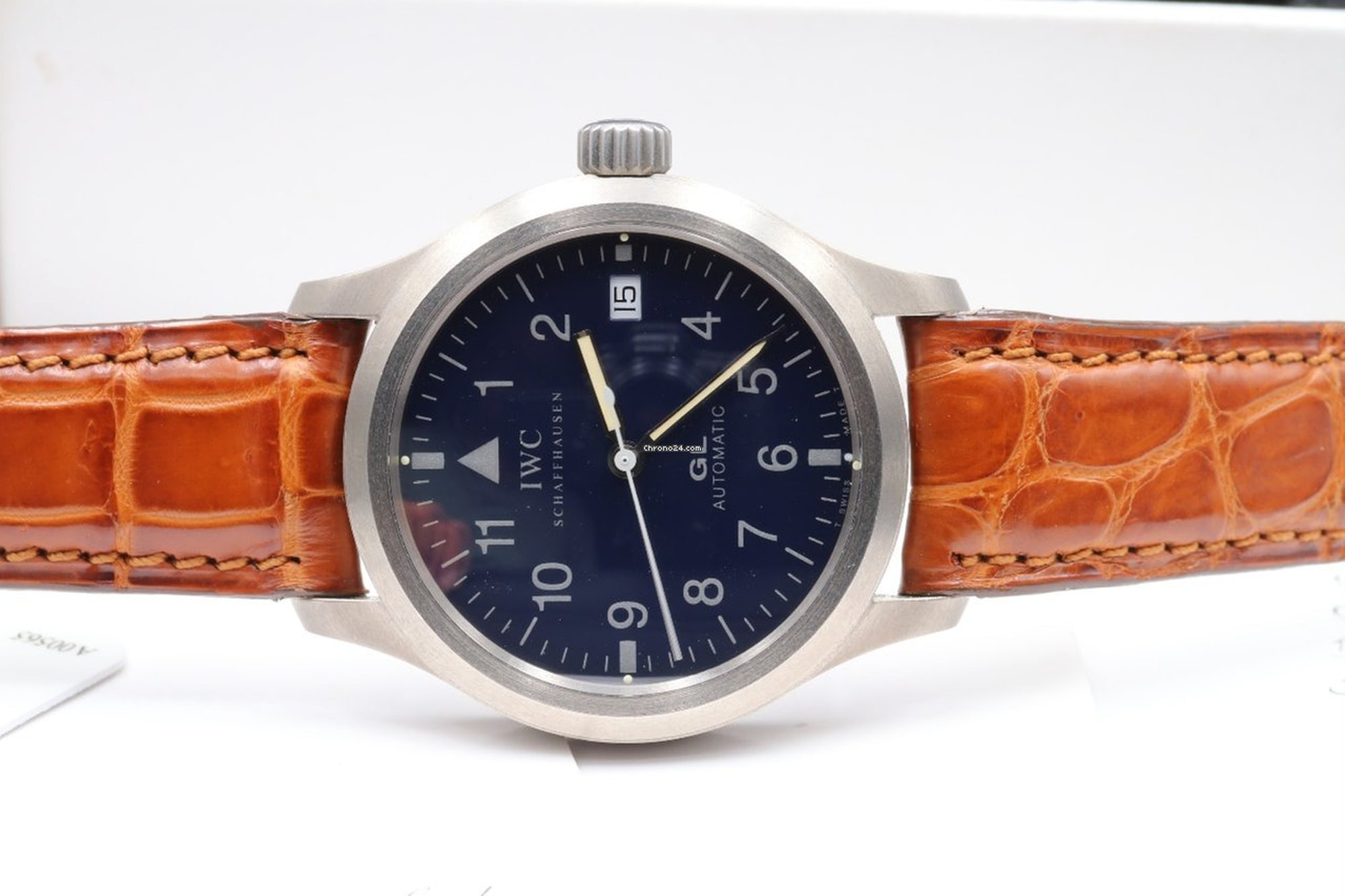IWC Mark XII Reference 3242 Bring a Loupe: A Titanium Zenith Port Royal, A Military Universal Genve Compax, A Pulsations Doxa Sfygmos, And More Bring a Loupe: A Titanium Zenith Port Royal, A Military Universal Genve Compax, A Pulsations Doxa Sfygmos, And More IWC front