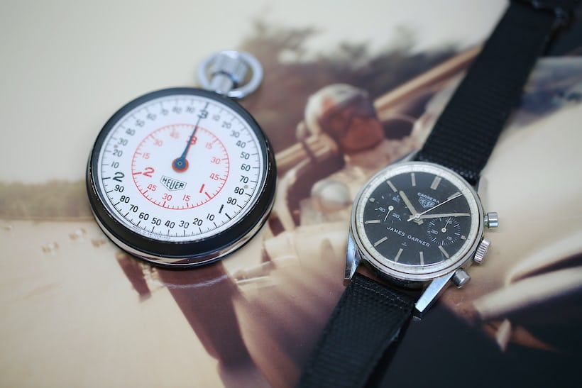 James Garner Heuer Stopwatch