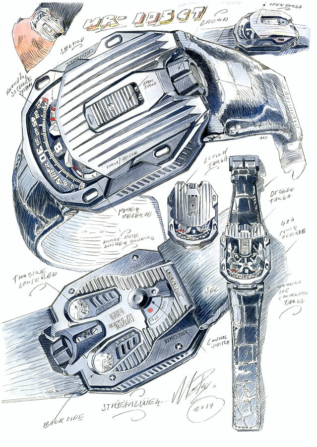 Sketches for the UR-015 CT