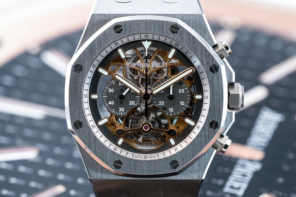 Royal Oak Tourbillon Chronograph Squelette, reference 26347 titanium