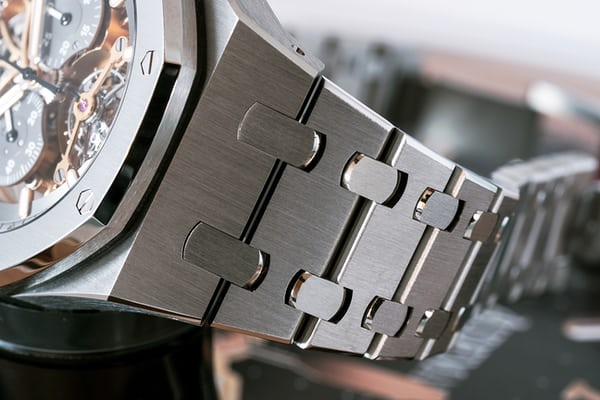 Royal Oak Tourbillon Chronograph Squelette, reference 26347 titanium bracelet