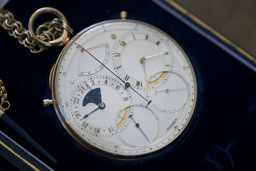 "The Daniels Space Traveller pocket watch, also sometimes called ""The Double Daniels."""