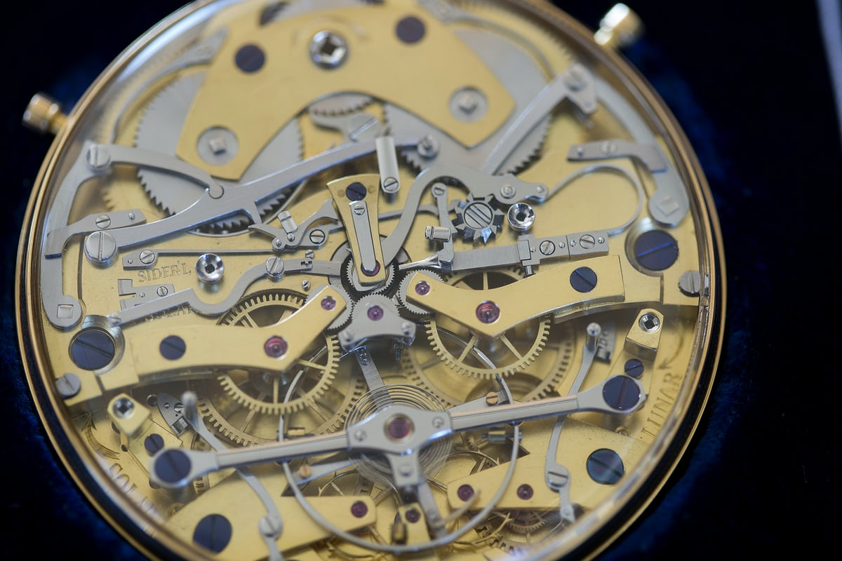 Daniels Space Traveler movement closeup