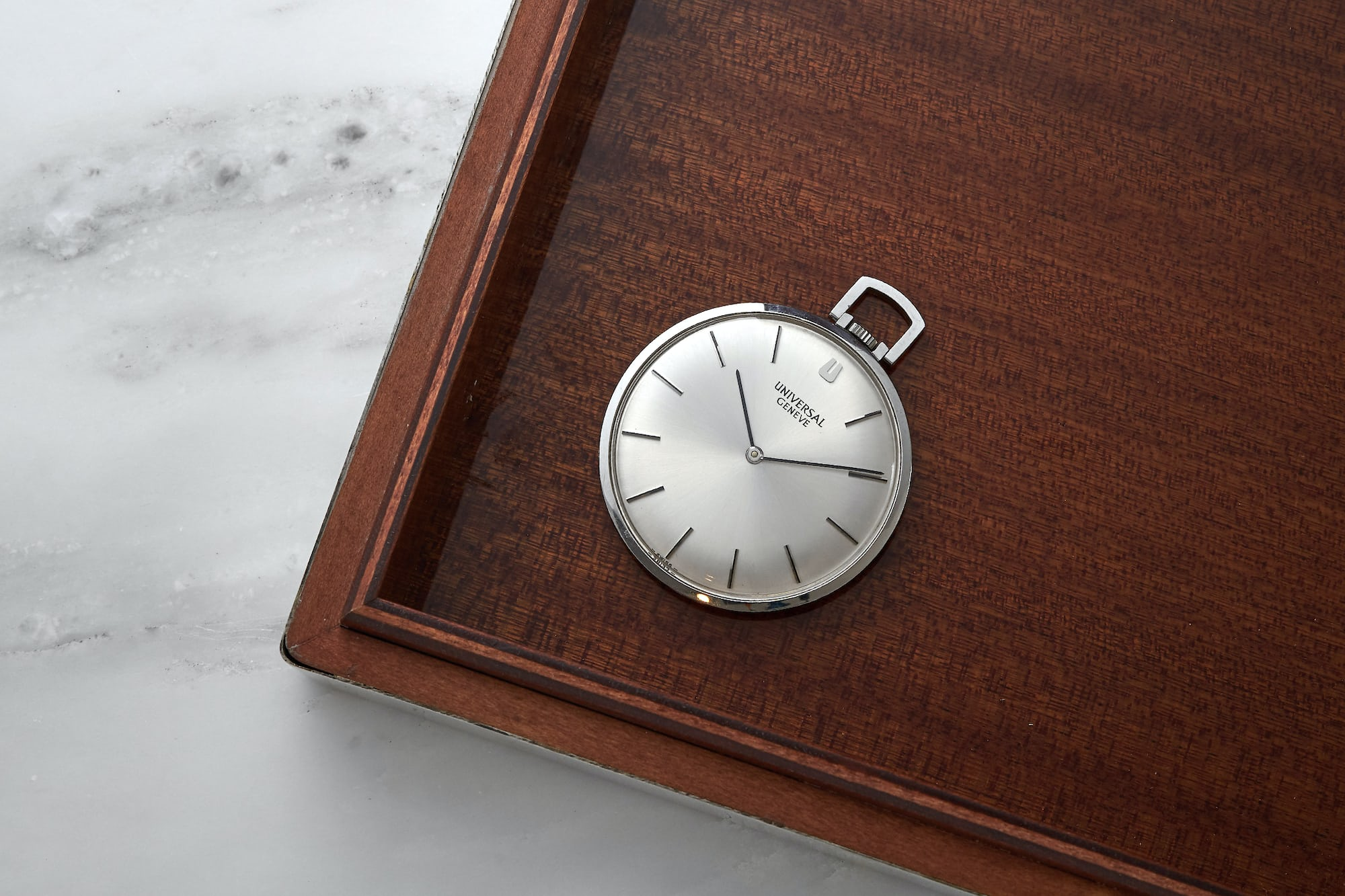 <p>1960s Universal Genève Ultra-Slim Pocket Watch</p>