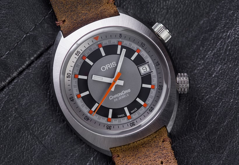 97a059a78 The ChronOris is vintage-inspired and retains the motorsport motif of the  original design.