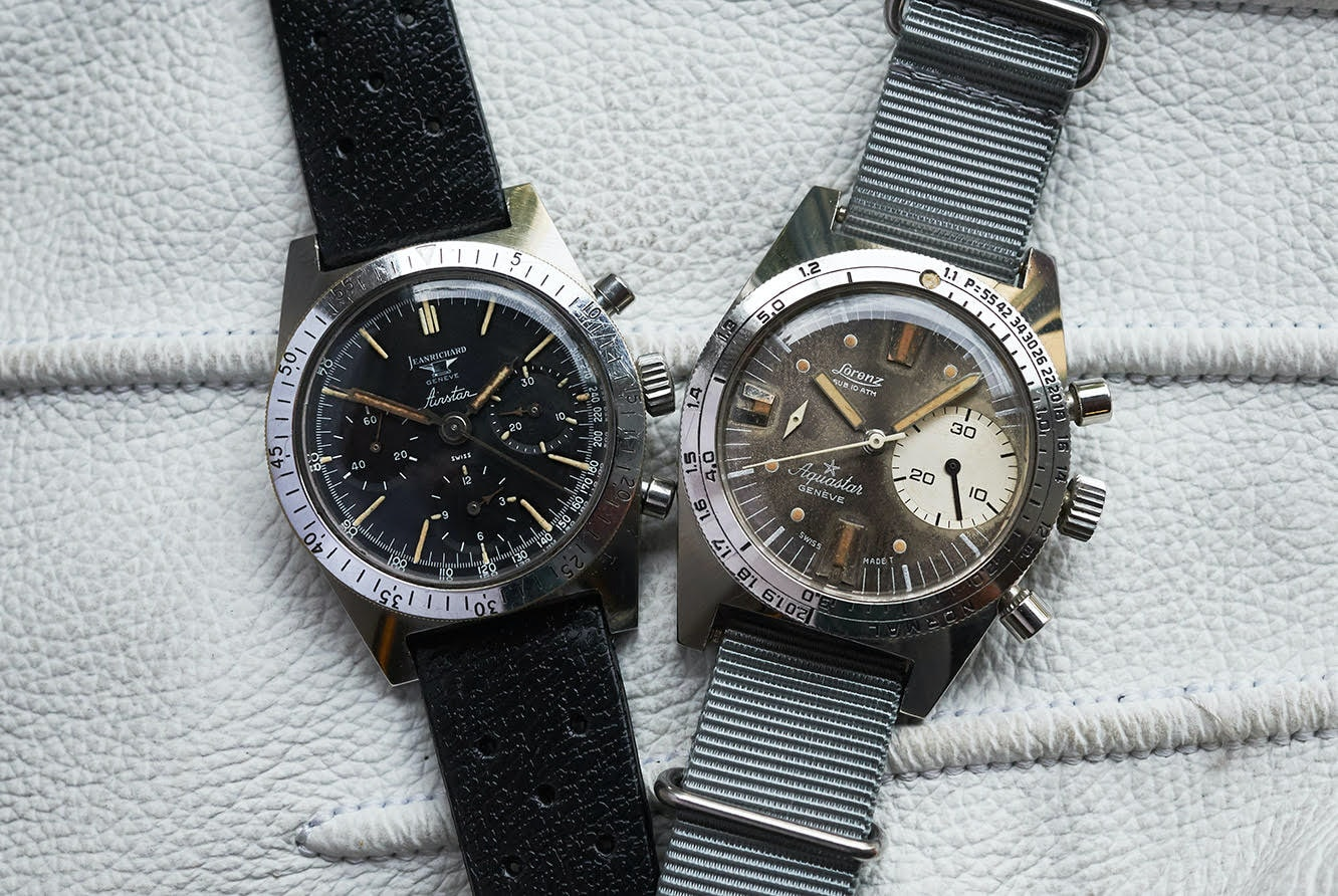 Duo.jpg?ixlib=rails 1.1 bring a loupe: a transitional jean richard airstar, a 'big bubbleback' rolex ref. 6106, a military heuer carrera ref. 7753, and more Bring a Loupe: A Transitional Jean Richard Airstar, A 'Big Bubbleback' Rolex Ref. 6106, A Military Heuer Carrera Ref. 7753, And More Duo