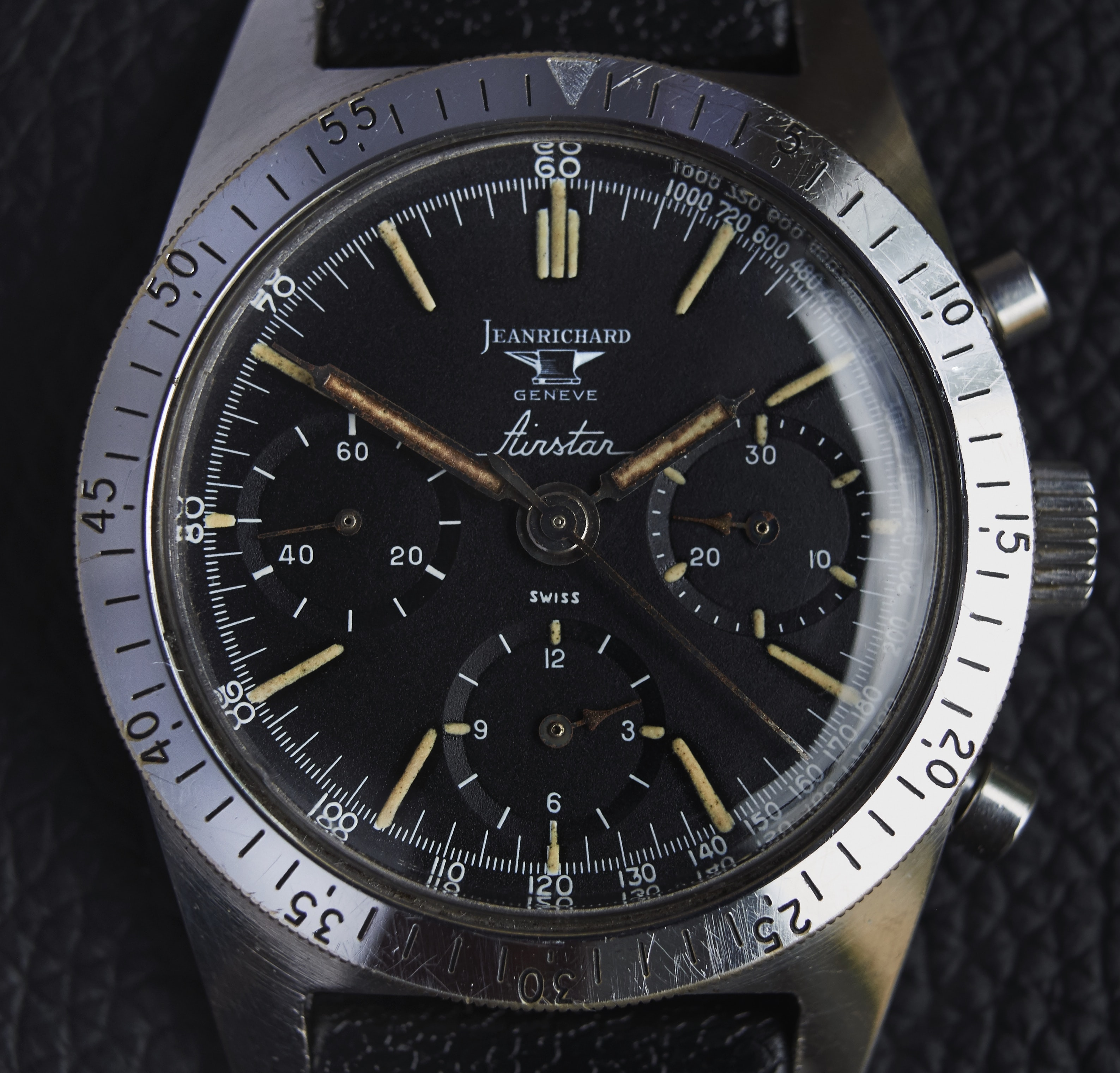 Jean Richard Airstar  Bring a Loupe: A Transitional Jean Richard Airstar, A 'Big Bubbleback' Rolex Ref. 6106, A Military Heuer Carrera Ref. 7753, And More Benutzerdefinierter Name461