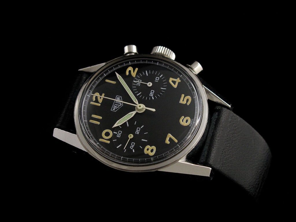Heuer Carrera Reference 7753 Military Belgian  Bring a Loupe: A Transitional Jean Richard Airstar, A 'Big Bubbleback' Rolex Ref. 6106, A Military Heuer Carrera Ref. 7753, And More Heuer belgian