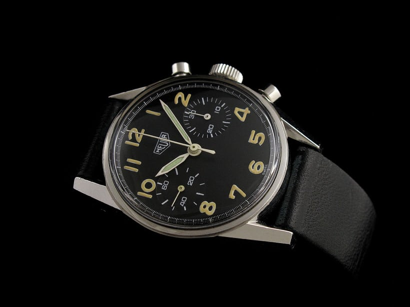 Heuer Carrera Reference 7753 Military Belgian