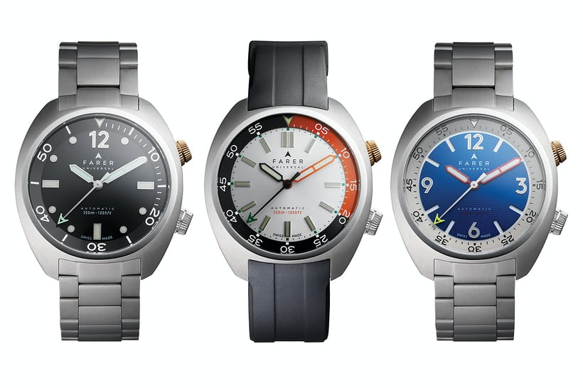 farer aqua compressor dive watches